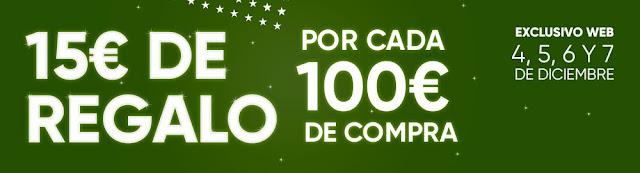 Top 10 ofertas 15 € de regalo por cada 100 € de compra de Fnac