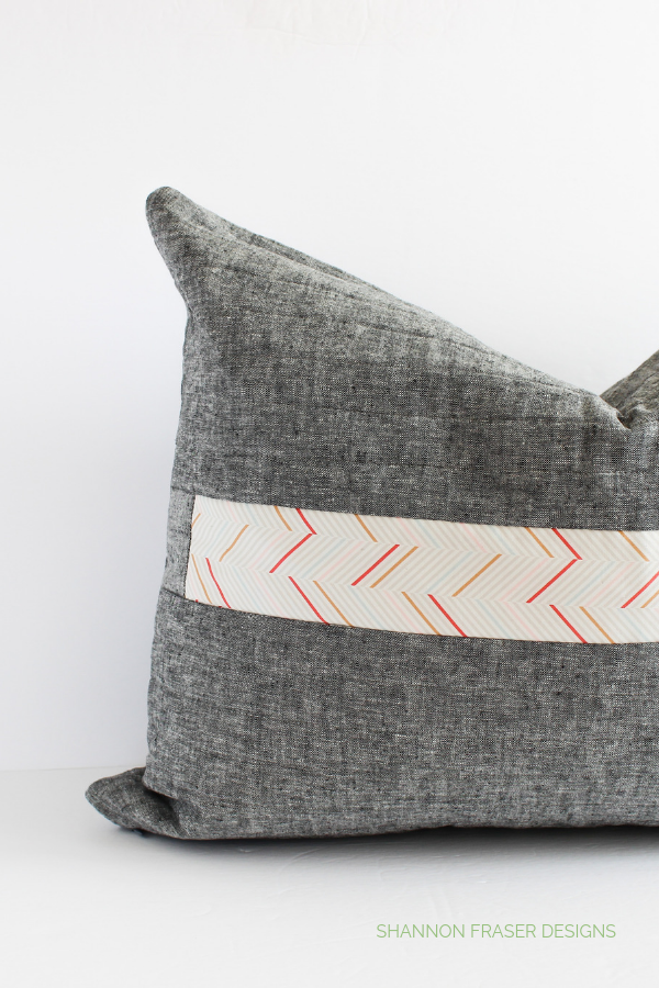 Back of the Spotlight Cushion featuring Playground fabric from Art Gallery Fabrics | Shannon Fraser Designs #rainydaysewing #quiltedcushion #homedecor
