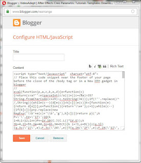 Anti Adblock code in Blogger