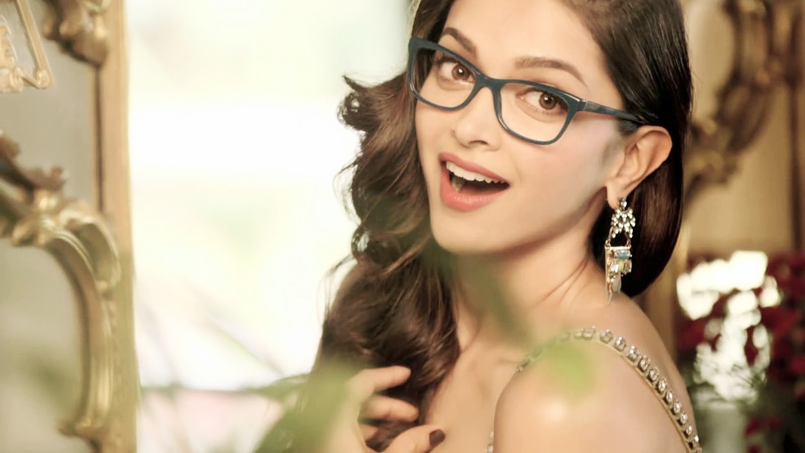 Dimple Hot Baby Deepika Padukone Face Close up Stills With Glass
