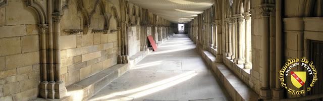 Toul - Cathédrale Saint-Etienne : Galerie est du cloître