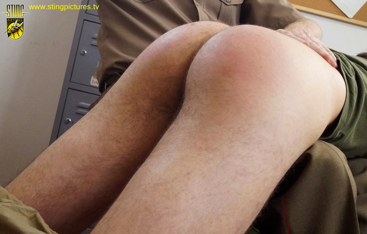 Military man spanking his 2 sexy soldiers