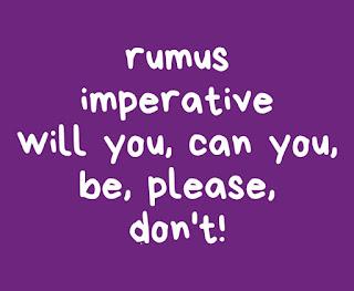 11 Rumus Imperative (Kalimat Perintah)