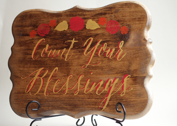 Count your blessings Thanksgiving Wood Sign