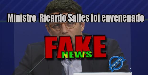 "Boato: Ricardo Salles foi envenenado com mamona por ""Ecoterroristas"" e está no hospital"