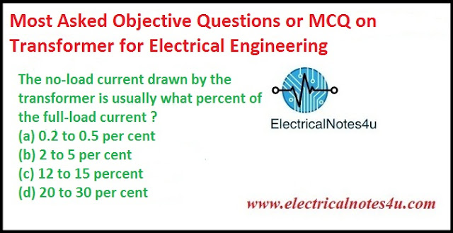 MCQ on Transformer for Electrical Engineering