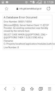 info gtk database error