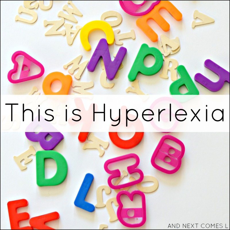 What is hyperlexia? Information on hyperlexia and hypernumeracy, including a video of what it looks like from And Next Comes L