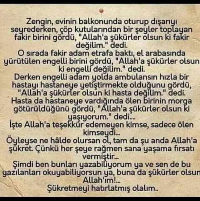 Allâh'a Şükürler Olsun