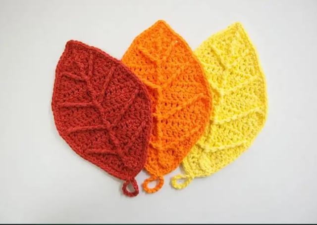 Tutorial Hojas de Otoño a Crochet