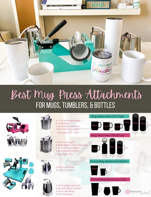 silhouette 101, silhouette america blog, mug press, silhouette and sublimation, heat press basics
