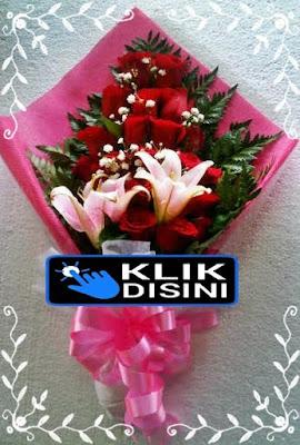 bunga hand bouquet mawar