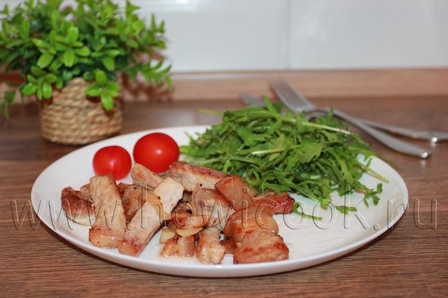рецепт мясной поджарки с луком