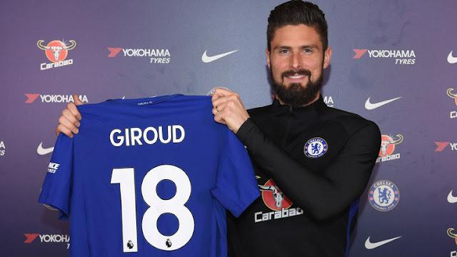 Resmi, Olivier Giroud Berseragam Chelsea
