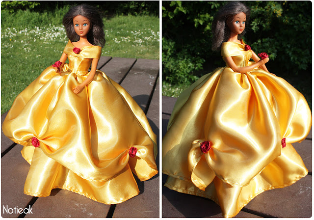 Dolls Robe jaune barbie  La Belle et la Bête , Disney