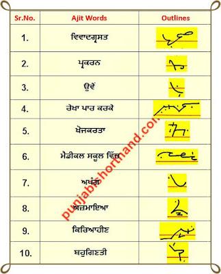 24-june-2020-punjabi-shorthand-outlines