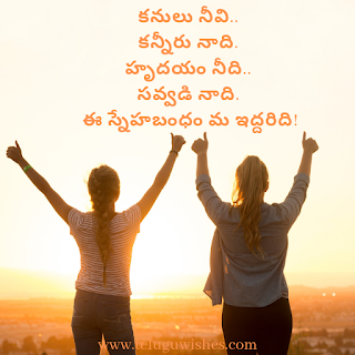 friendship day quotations in telugu