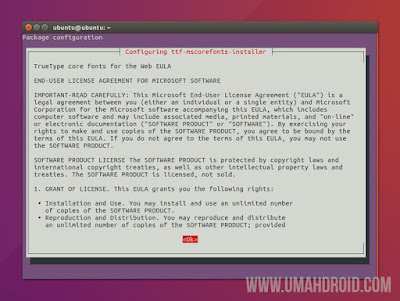 Instal Microsoft TrueType Core Font Ubuntu