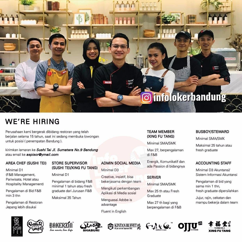 Lowongan Kerja Sushi Tei & Boga Group Bandung Februari 2020