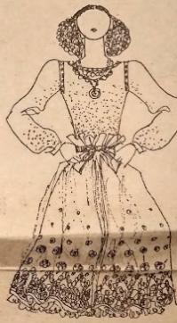 Блузка и юбка из платков