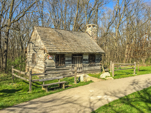A vintage cabin in the Robert O Cook Memorial Arboretum on the Ice Age Trail