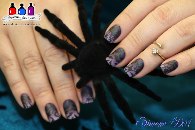 Cheeky, Jumbo 4, Moyou Suki Collection 10, Moyou Baker Collection 05, Cici & Sisi 10, ombré, burple, roxo, lilás, Halloween nails, Mony D07, Matte,  China Glaze, Queen B, Charmed I'm Sure, Tart-y for the Party, Halloween 2016,