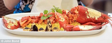 Bombay Brassiere's Samundari Khazana Curry adalah makanan lobster paling mahal di dunia