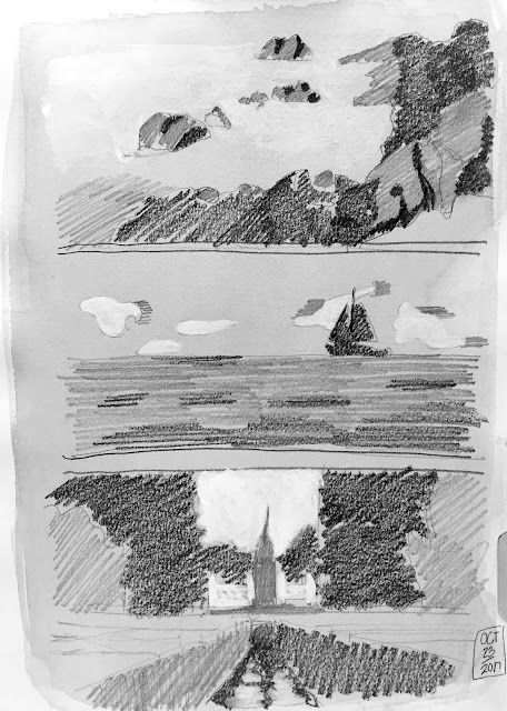 Daily Art 10-23-17 value and contrast - tonal composition studies