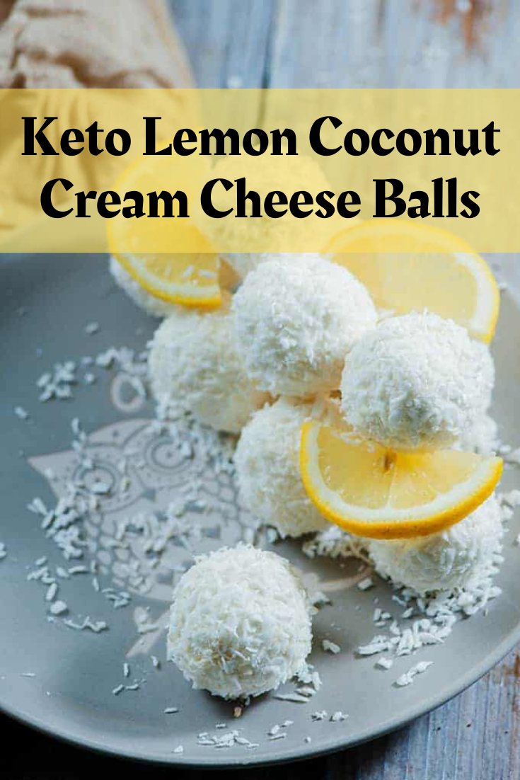 Keto Lemon Coconut Cream Cheese Balls