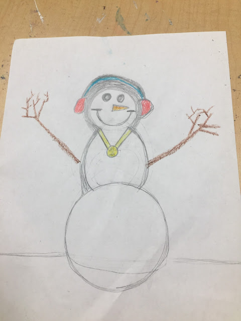 snowman art for kids