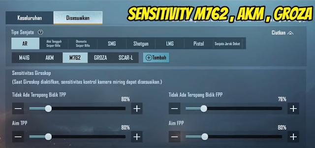 Sensitivitas Gyro Senjata PUBG Mobile