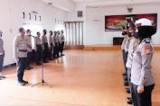 AKBP Dwi Santoso Pimpin Upacara Kenaikan Pangkat Personel Polres Pinrang TMT 1 Juli 2020