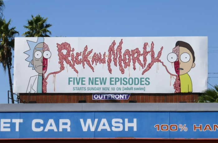 Rick and Morty season 4 billboard