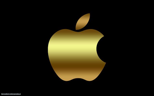 Gouden Apple iPhone achtergrond