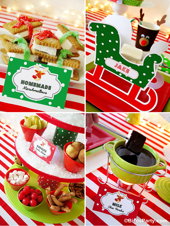 Rudolph Fondue Party for HGTV with Free Printables - BirdsParty.com