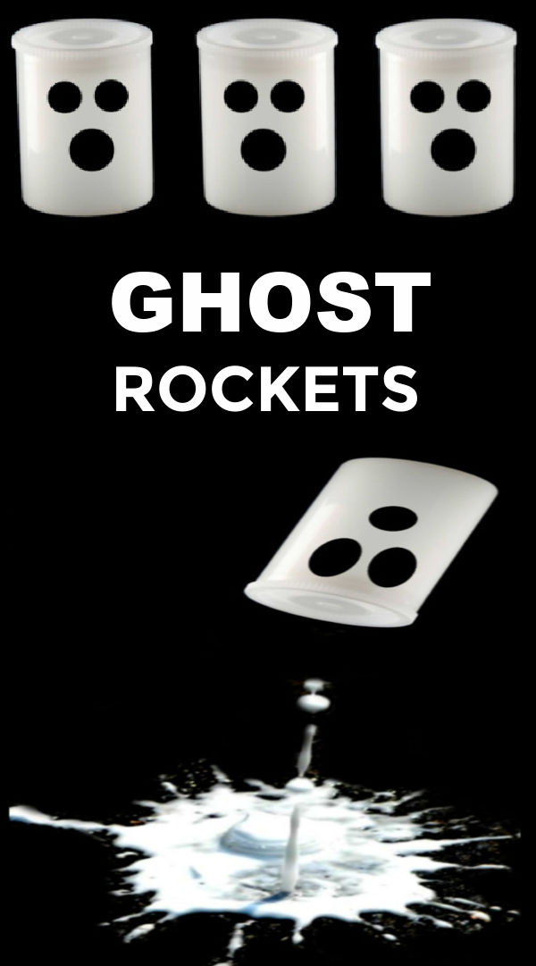 Wow kids of all ages with flying ghost rockets! #ghostrockets #ghostactivitiesforkids #halloween #scienceexperimentskids #growingajeweledrose