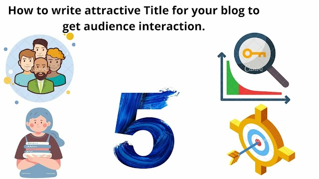 How to write attractive Title for your blog to get audience interaction.