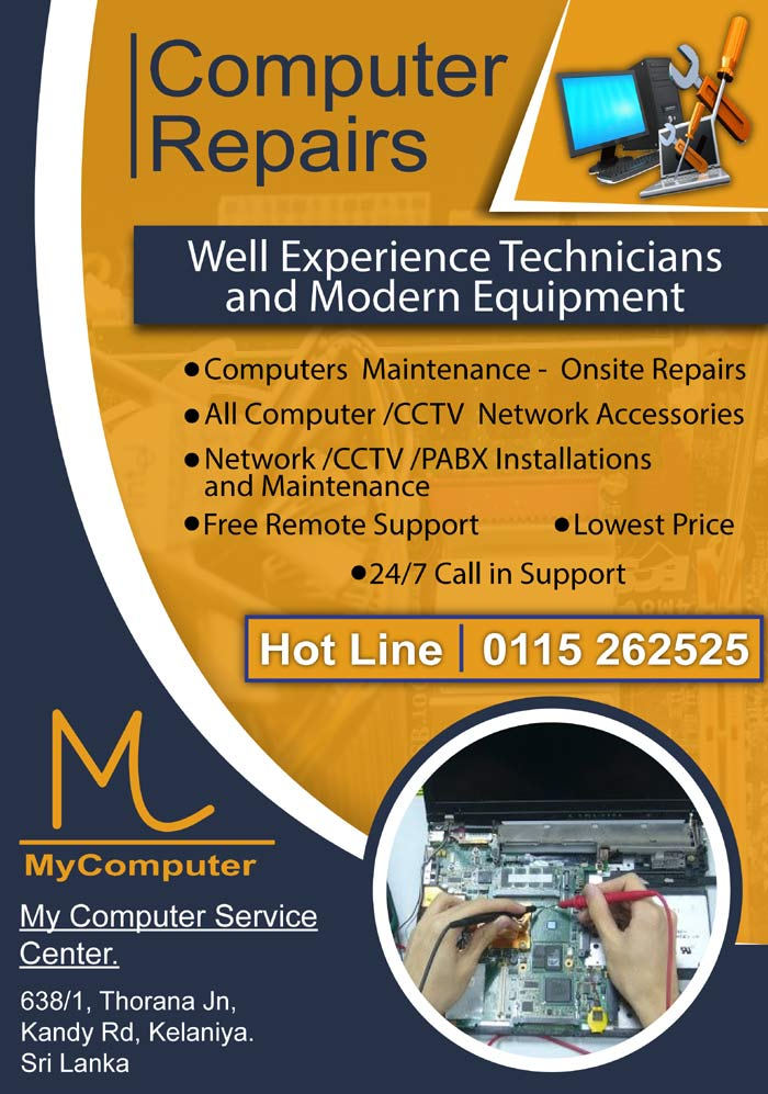 Computer repairs by well experiences technicians with modern equipments