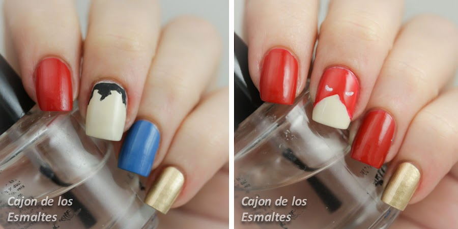 nail art superheroes minimalist vintage superman flash