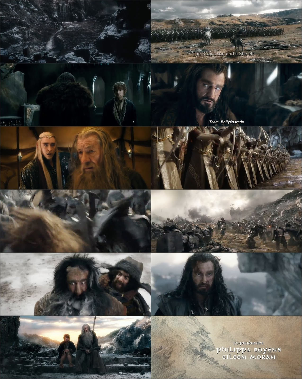 The Hobbit The Battle of The Five Armies 2014 BRRip 500Mb Hindi Dual Audio 480p Download
