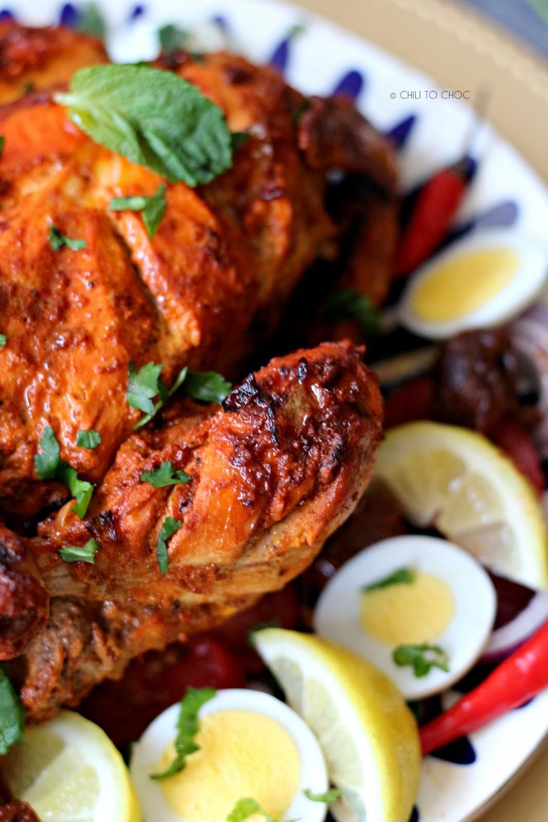 Murgh Musallam (Mughal-Style Stuffed Whole Chicken)