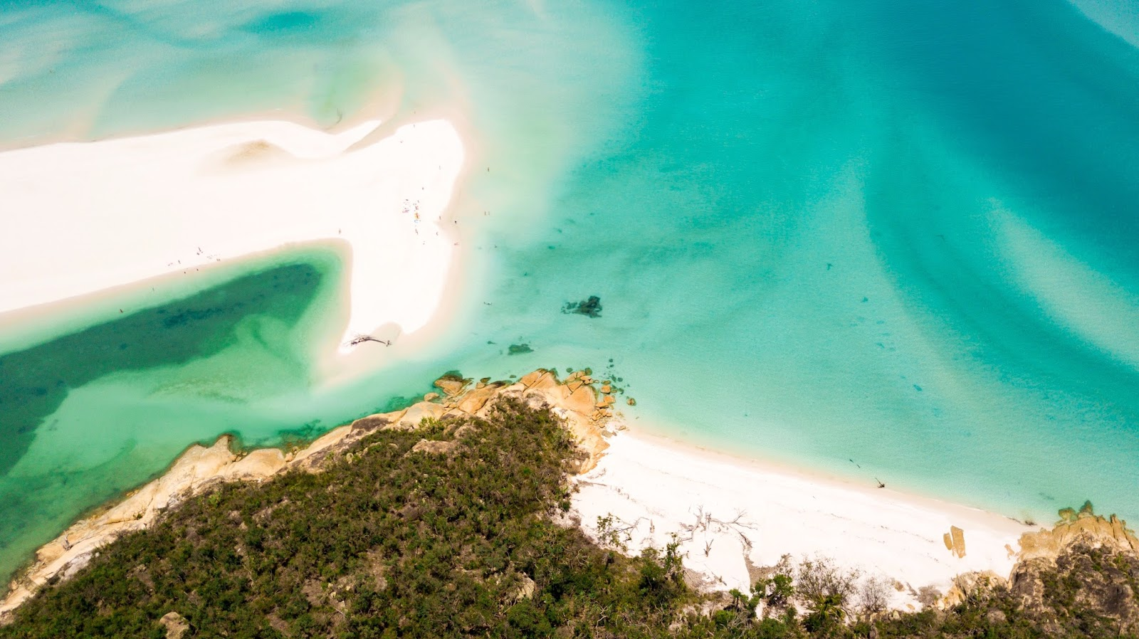 aerial view over bettys beach