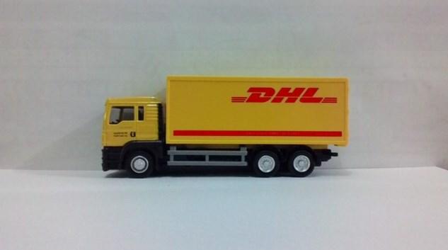 miniatur truk tronton box ekspedisi