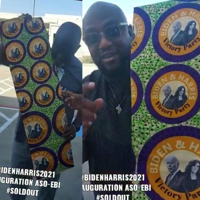 Nigerians designs an Aso-Ebi for the Joe Biden and Kamala Harris inauguration this Wednesday