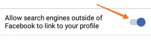 Hide Facebook Profile Search Result