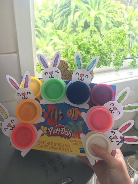 Playdoh Bunny Classroom Gifts for Easter Free