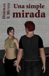 portada del relato corto de la escritora Déborah F. Muñoz Una simple mirada