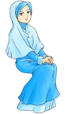 kartun gambar muslimah terbaru