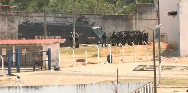 Choque entra em Alcaçuz buscando armas e celulares
