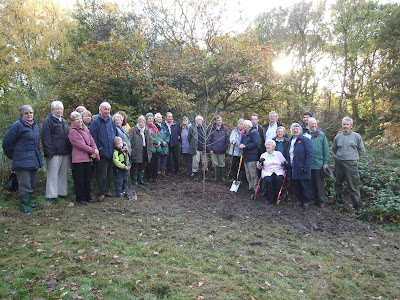 Tree planting at Dibbinsdale to mark our 40th Anniversary